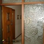 Stunning slumped glass beside a door