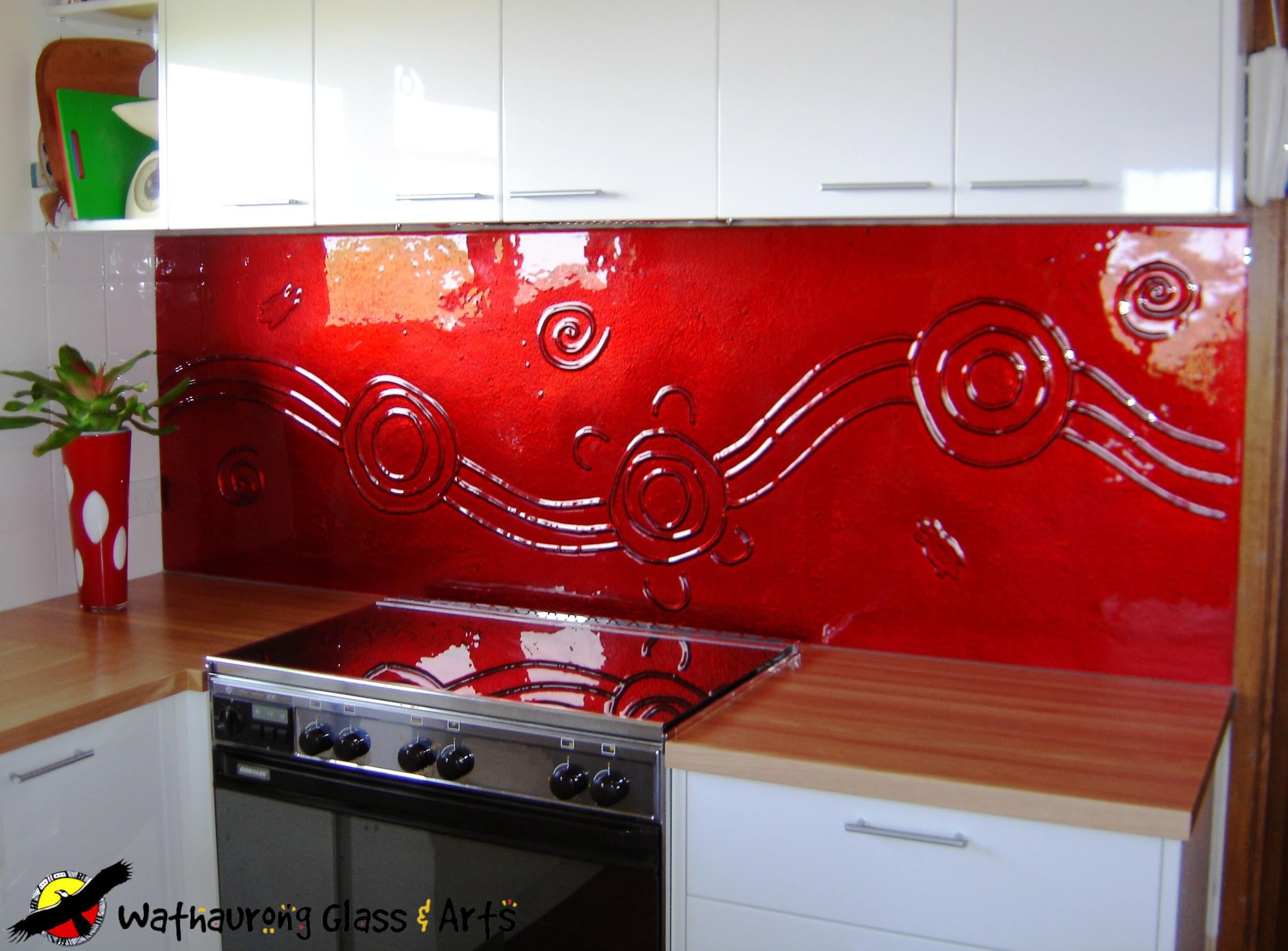 For Kitchen Splashbacks White Kitchen With Red Splashback 04154920170513 Ponyiexnet