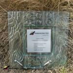 plaqued platter style award