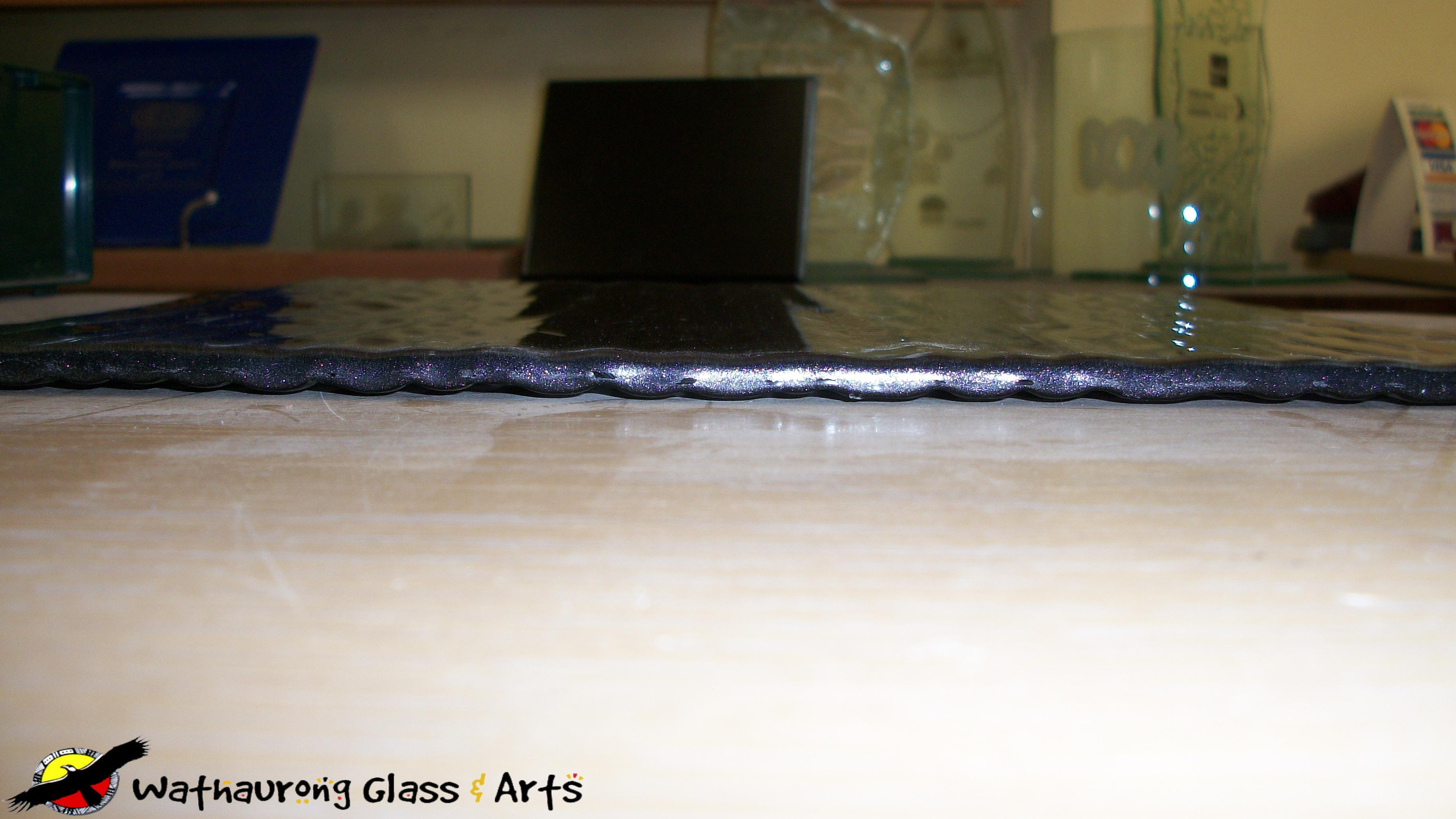myths of slumped glass wathaurong glass geelong splashback sample tile side view