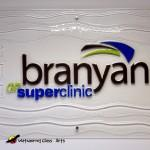 Branyan Wall Glass Sign Logo