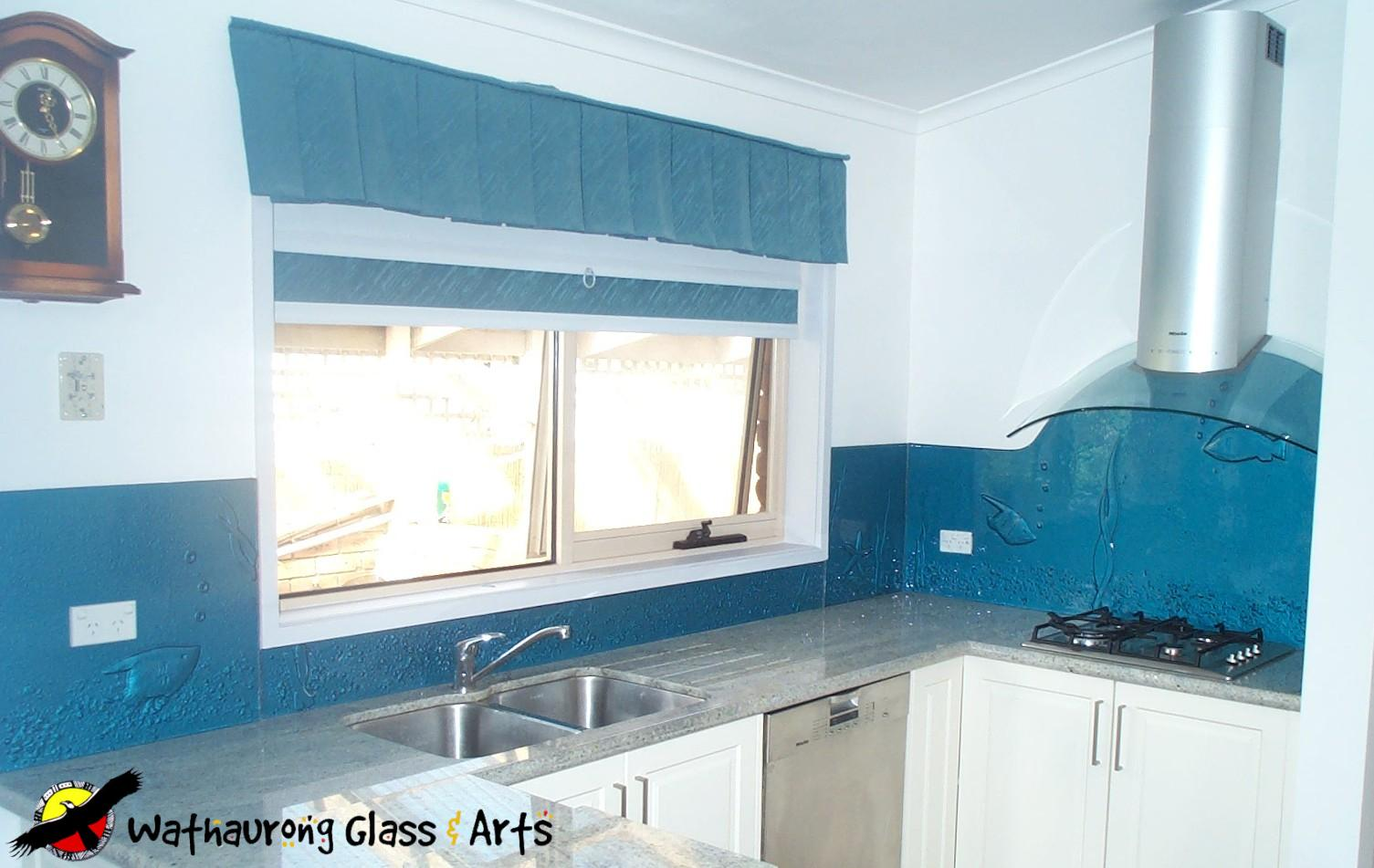 Light Blue Glass Splashback Bendigo - Wathaurong Glass