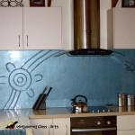 Light blue kitchen splashback with Platypus